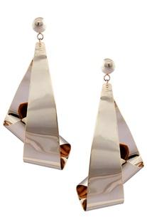 Conversation starter long earrings