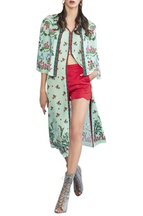 Floral knee-length tunic