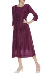Angrakha handspun chanderi dress with inner