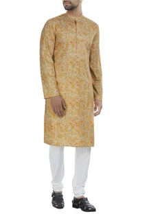 Mosaic printed kurta with churidar