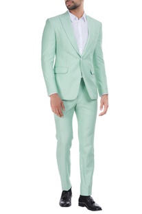 Sorbet-summer linen suit