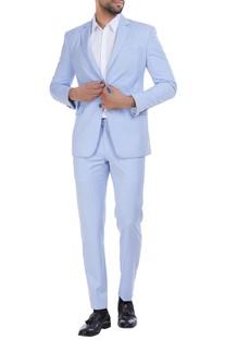 Wool notch lapel blazer with formal trousers set