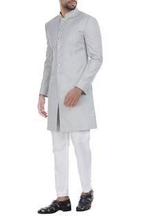 Self printed achkan jacket with churidar
