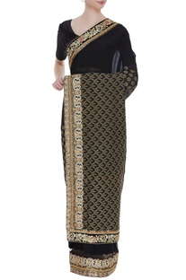 Banarasi sari with unstitched blouse