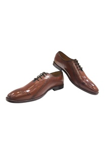 Handcrafted leather brogues