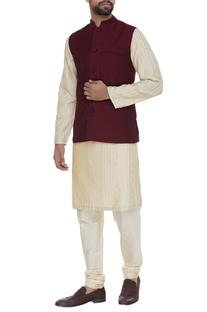Mandarin collar waistcoat