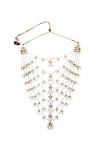Kundan jadau pearl layered necklace