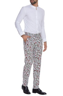 Printed khadi cotton trousers