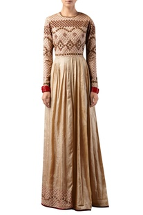 Embroidered long maxi dress