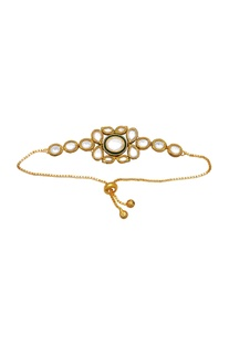 Kundan bracelet with meenakari work