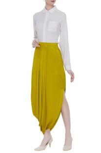 Side drape skirt