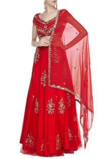 Sequin zardozi & cutdana embroidered lehenga set