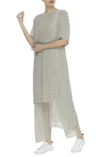 Khadi striped boxy tunic