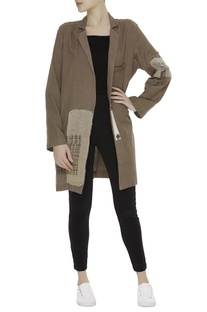 Zari patchwork midi jacket