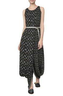 Ranthambore forest life inspired dhoti gown