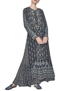 Crepe silk forest inspired printed kurta by Anita Dongre