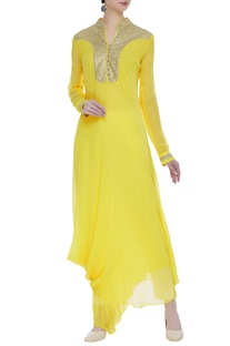 Drape style kurta with sequin embellishment