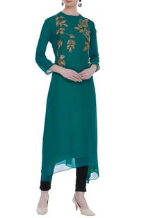 Hand embroidered double layered tunic
