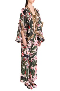 Printed palazzos with side slits
