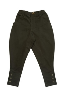 Pure cotton polo pants with knee patches