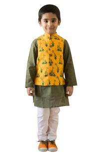 Safari printed nehru jacket set