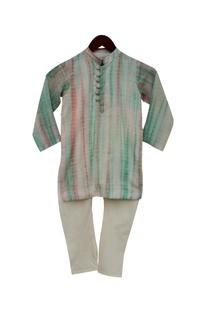 Cotton silk kurta & churidar