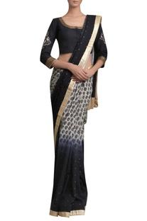 Block print sari with blouse