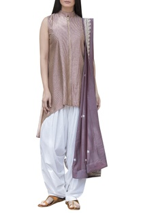 High low kurta with dupatta and salwar
