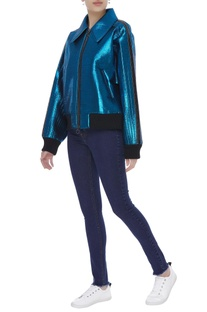 Futuristic metallic jacket