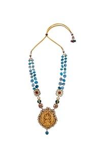 Temple pendant long necklace