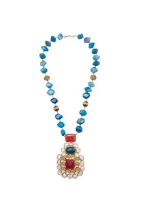 Baroque style pearl & beaded necklace