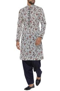 Muslin cotton floral printed kurta