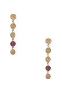 Drop earrings with gemstone