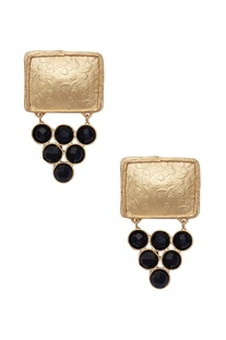 Statement earrings with black onyx