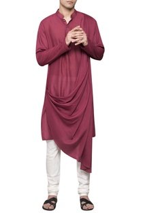 Cowl pleated kurta