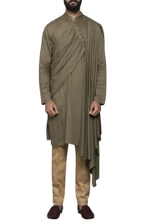 Pleated drape kurta