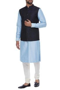 Brocade embossed nehru jacket
