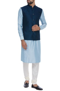 Resham embroidered nehru jacket