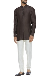 Criss cross detail shirt kurta