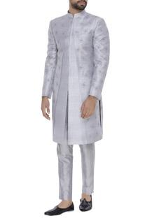 Zari embroidered sherwani with pants