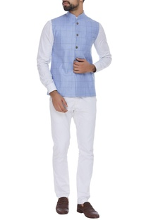 Checkered nehru jacket