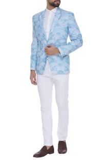 Floral printed blazer jacket