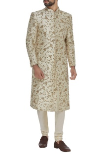 Zardosi embroidered sherwani set