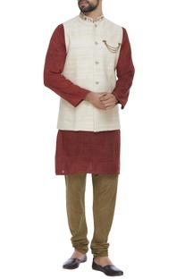 Organic silk hand embroidered zardozi jacket