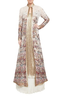 Sequin embroidered tunic, jacket & lehenga