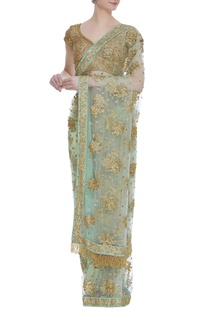 Sequins embroidered sari with blouse