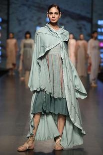 Layered dress with shrug