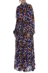 Striped shirt & skirt set with kaftan set
