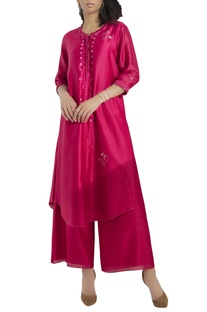 Embroidered kurta with flared pants