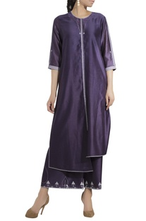 Asymmetric hemline kurta with palazzo pants